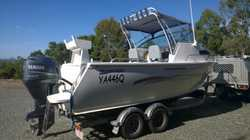 2010 aluminium hull, 115 h/p 4 stroke Yamaha motor 119hrs, Hydraulic steering, electric anchor winch...