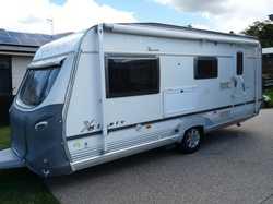 18 ft. 2 single beds & 2 bunks, En-suite,gas/elec hot water, 3 was fridge, solar panel, caravan move...