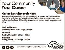 Your Community Your Career Online Recruitment is Here Rockhampton Regional Council has launched its...
