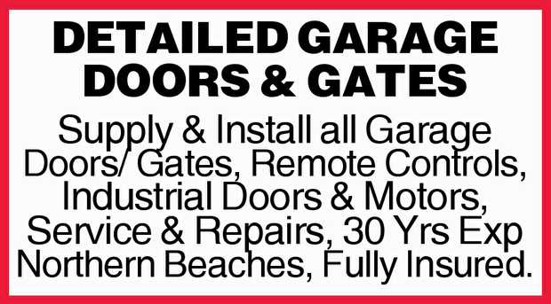 Based on the Northern Beaches   We specialise in the Supply and Install of all Garage Doors &...