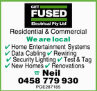 GET FUSED ELECTRICAL SERVICES