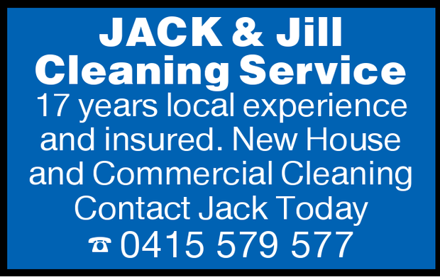 JACK & Jill Cleaning Service   17 years local experience and insured.   New House and...