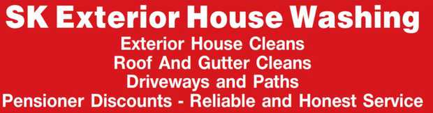 Exterior House Cleans   Roof And Gutter Cleans   Driveways and Paths    Pensioner Dis...