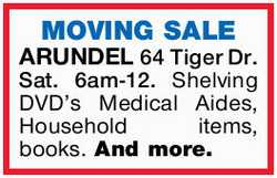 Sat. 16th June 6am-12.- 2018 Shelving DVD's Medical Aides, Household items,...