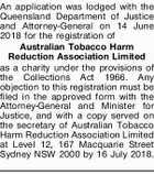 Australian Tobacco Harm Reduction Association Limited