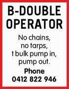 B-DOUBLE OPERATOR