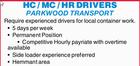 HC / MC / HR DRIVERS