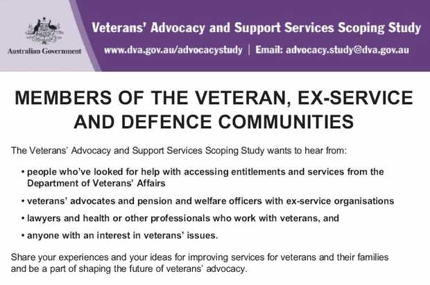 MEMBERS OF THE VETERAN, EX-SERVICE AND DEFENCE COMMUNITIES   The Veterans' Advocacy and S...
