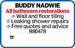 BUDDY Nadwie -   All bathroom restorations   Wall and floor tiling   Leaking shower r...