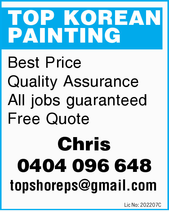 TOP KOREAN PAINTING    Best Price   Quality Assurance   All jobs guaranteed Free Quot...