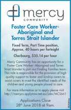 Foster Care WorkerAboriginal and Torres Strait Islander