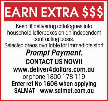 <p> Keep fit delivering catalogues into household letterboxes on an independent contracting...
