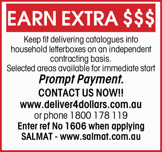 Keep fit delivering catalogues into household letterboxes on an independent contracting basis. ...