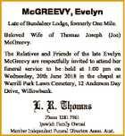 McGREEVY, Evelyn