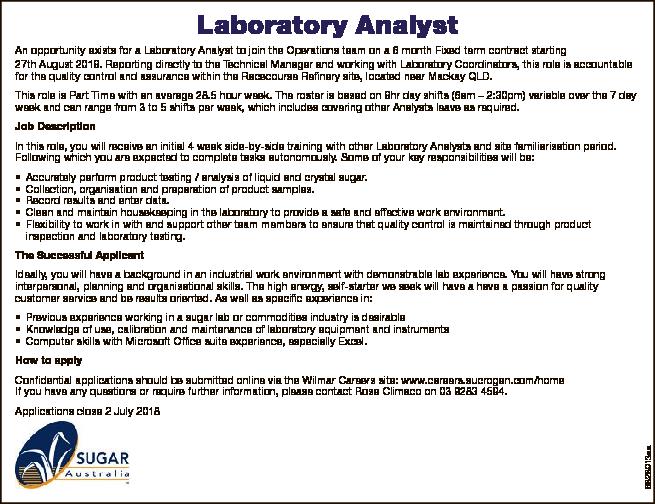 Laboratory Analyst