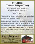 CONROY, Thomas Joseph (Tom)