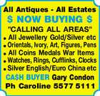 All Antiques - All Estates $ NOW BUYING $