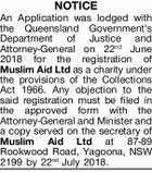 Application of Registration - Muslim Aid Ltd