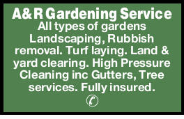 A&R Gardening Service   All types of gardens   Landscaping,   Rubbish removal. ...