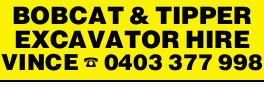 BOBCAT & TIPPER   EXCAVATOR HIRE   Earthmoving Machinery/ Equipment   Great servi...