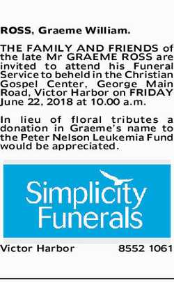 Browsing Funeral Notices | NSW & QLD Classifieds | Herald Sun