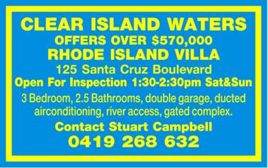 <p> RHODE ISLAND VILLA </p> <p> Open For Inspection 1:30-2:30pm Sat&Sun 3 Bedroom, 2.5...</p>