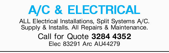 A/C & ELECTRICAL   ALL Electrical Installations   Split Systems A/C.   Supply &am...