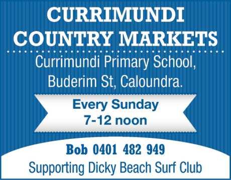 <p> CURRIMUNDI COUNTRY MARKETS </p> <p>  </p> <p> Currimundi State SAchool, Buderim St...</p>