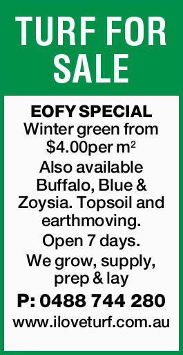 EOFY SPECIAL    Winter green from $4.00per m2 Also available Buffalo, Blue & Zoysia...