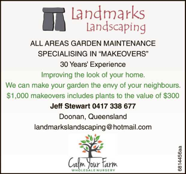 "ALL AREAS GARDEN MAINTENANCE SPECIALISING IN ""MAKEOVERS""