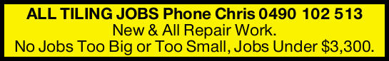 New & All Repair Work