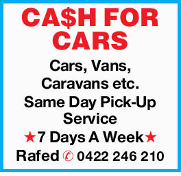 <p> CA$H FOR CARS </p> <p> Cars, Vans, Caravans etc. </p> <p> Same Day Pick-Up...</p>
