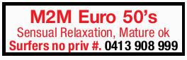 <p> <strong>M2M Euro 50's </strong> </p> <ul> <li> Sensual...</li></ul>