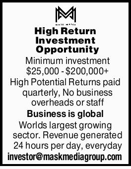 High Return Investment Opportunity