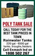 POLY TANK SALE