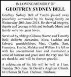 GEOFFREY SYDNEY BELL