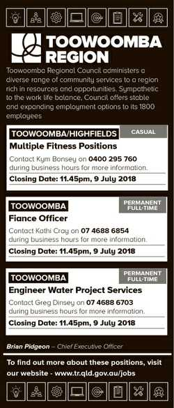 Toowoomba Regional Council administers a diverse range of community services to a region rich in res...