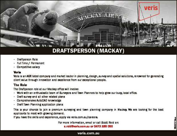 - Draftperson Role   - Full Time / Permanent   - Competitive salary   Veris   Ver...