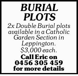 BURIAL PLOTS