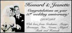 Congratulations on your 50th wedding anniversary!