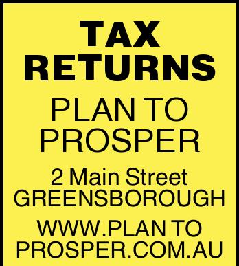 TAX RETURNS   PLAN TO PROSPER   2 Main Street GREENSBOROUGH   WWW.PLANTOPROSPER.COM.A...