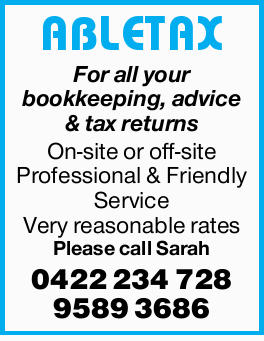 Tax Returns  Bookeeping & GST  Self-managed Super Funds   On-site or off-si...