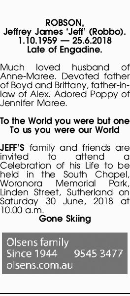 Obituaries, Funeral and Death Notices in Tasmania | The Mercury