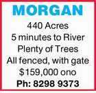***MORGAN*** LAND FOR SALE
