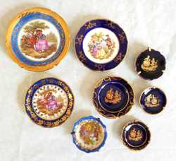 miniatures cobalt & royal blue varying sizes exc 22ct gold bands