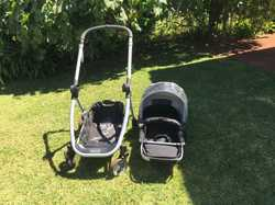 Steelcraft Pram/stroller/travel system; lift out capsule; good condition