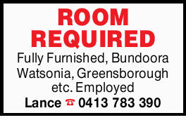 ROOM REQUIRED 