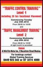 TRAFFIC CONTROL TRAINING & TRAFFIC MANAGEMENT TRAINING