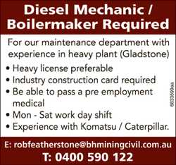For our maintenance department with