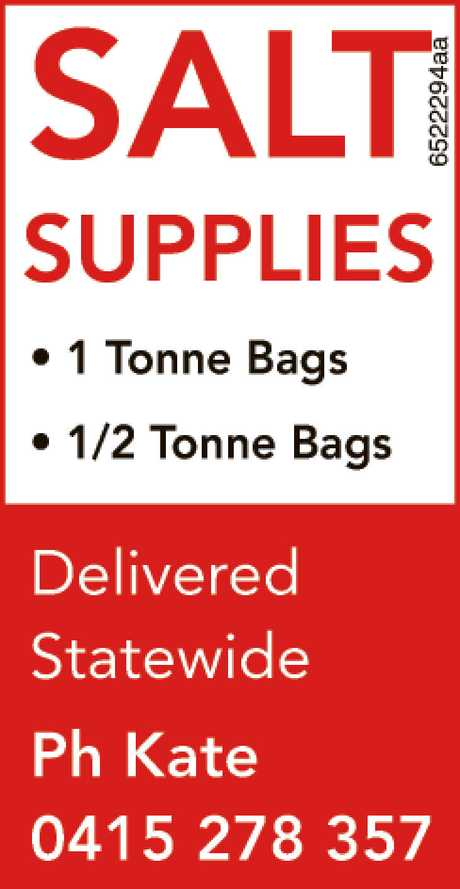 <p> <strong>SALT SUPPLIES</strong> </p> <ul> <li>
